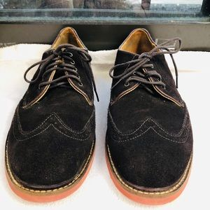 Cole Haan men wingtip oxford franklin brown shoe